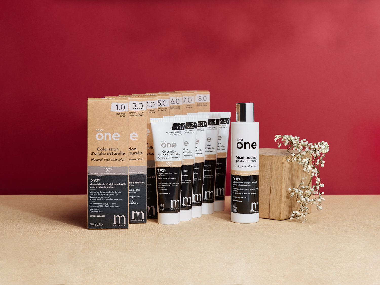 Gamme Color One - coloration naturelle